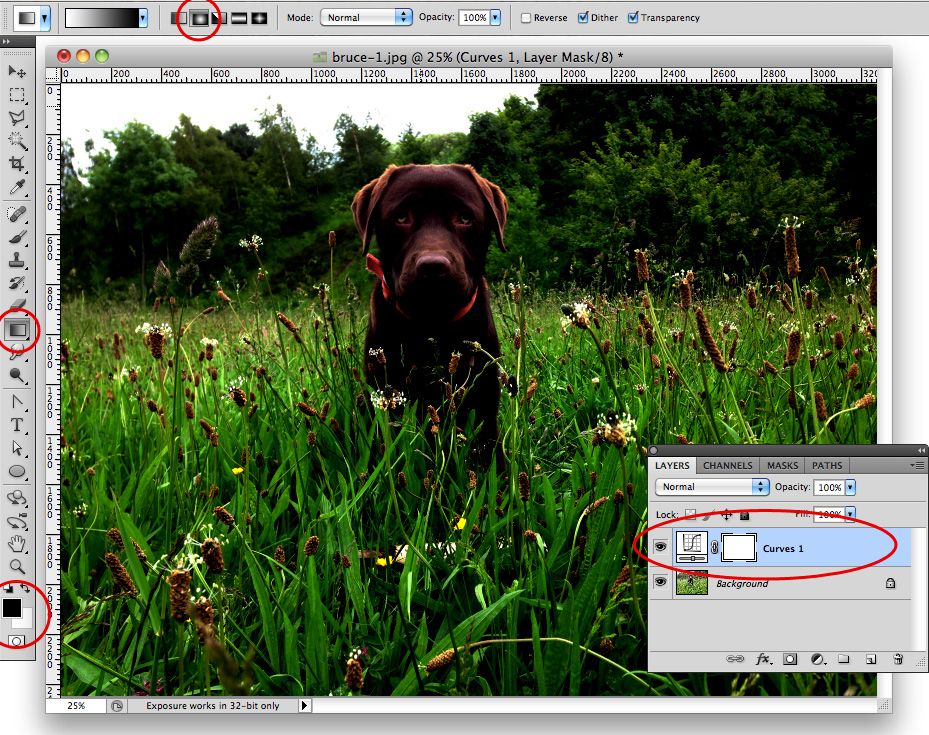 Photoshop Tutorial: Creating a Vignette effect with Curves Step 4