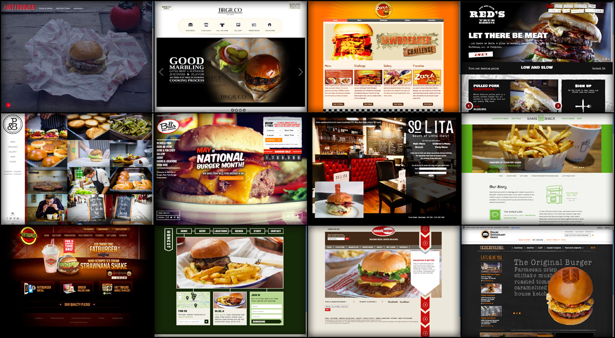 Burger joint website examples