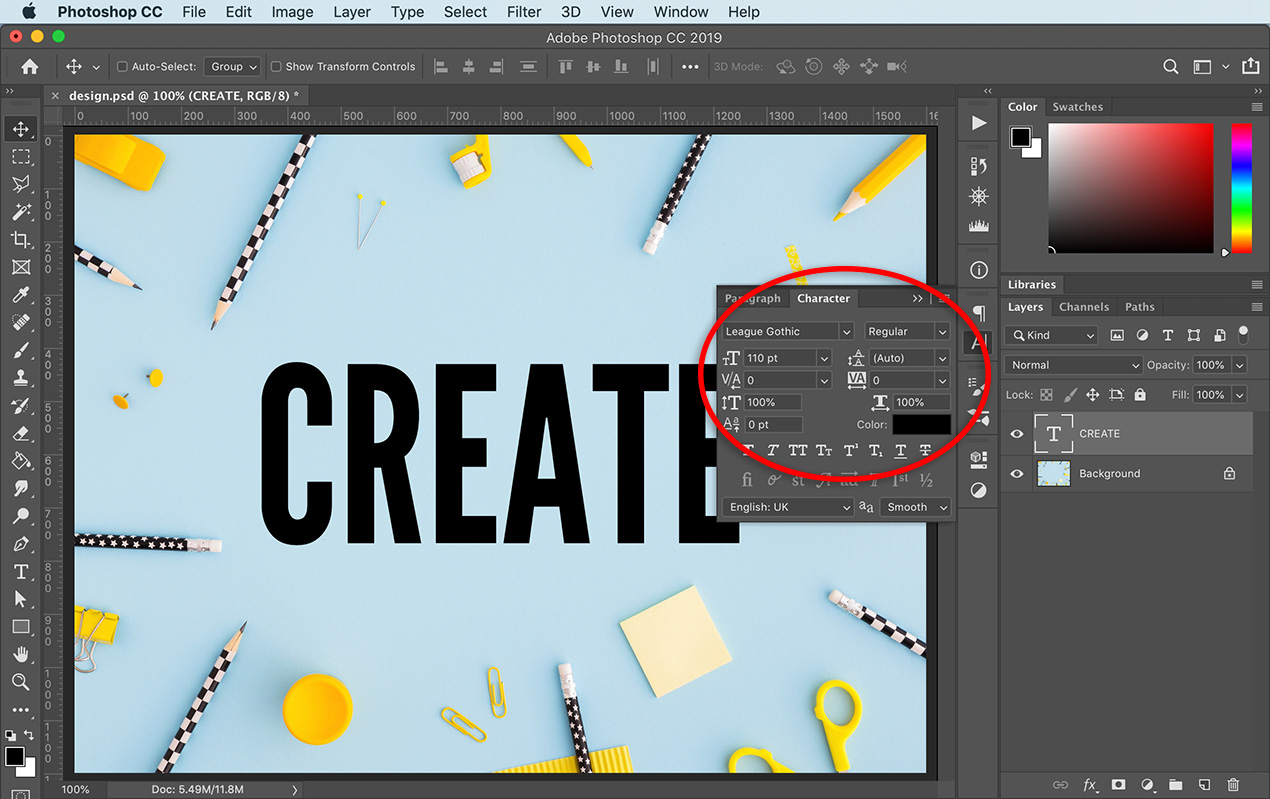 Photoshop Basics: How to Outline Text in Photoshop